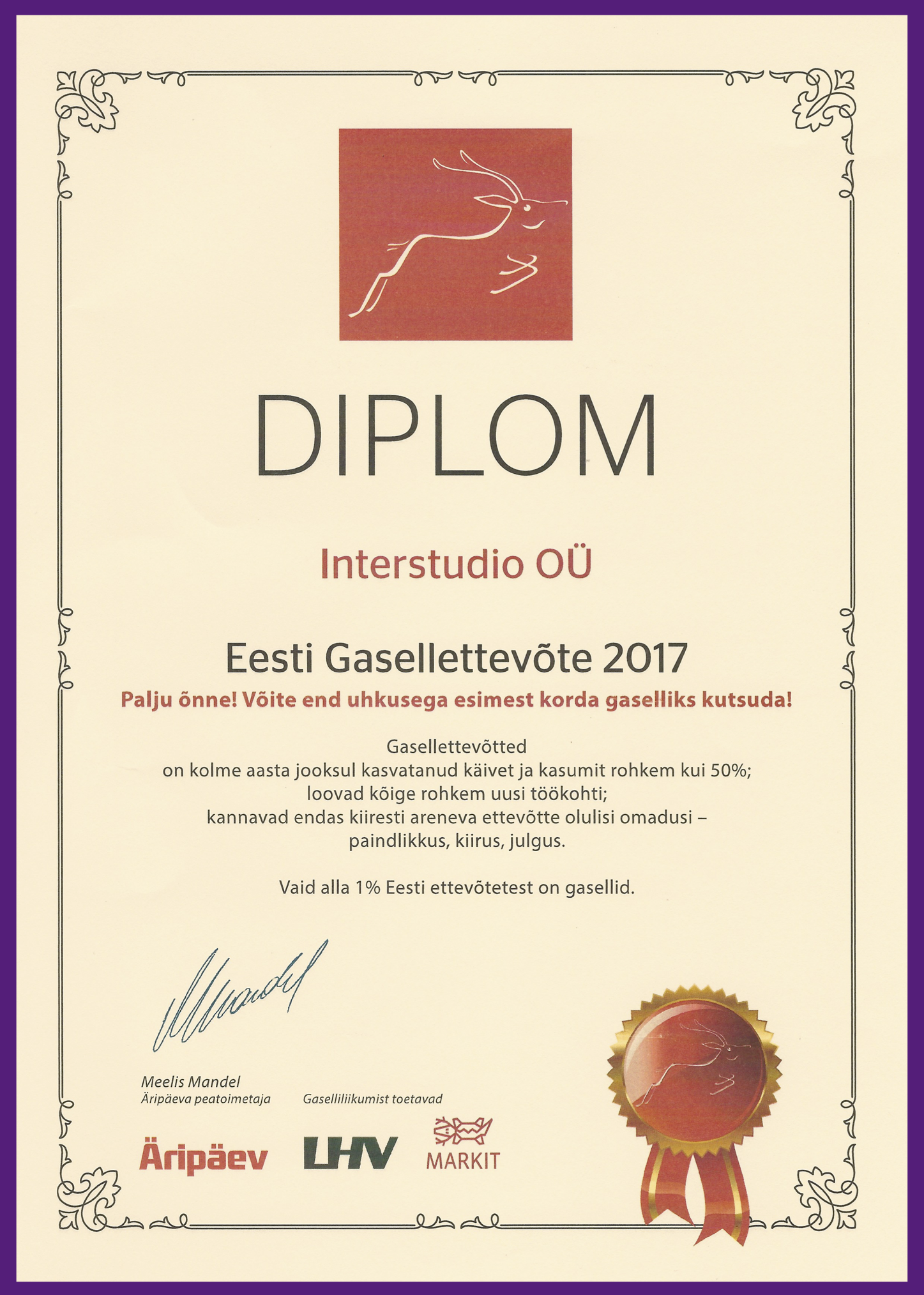 INTERSTUDIO GASELLETTEVÕTE 2017